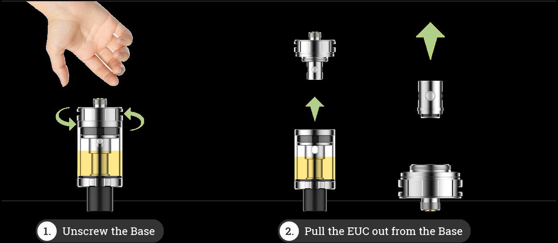 Vaporesso Estoc easiest way to change coils